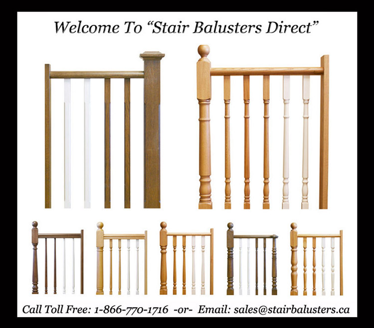 Stair Balusters Direct Is A Tried And Tested Wholesale U0026 Retail Baluster /  Newel Post Supply Company Located In Canada. With Over 350+ Shipped Stair  Railing ...